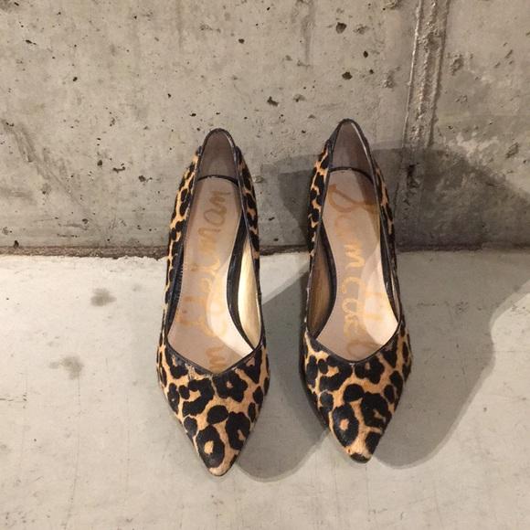 e96ff6e735570e Leopard calf hair Sam Edelman heels
